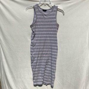 3/$20 Cotton On gray white striped tank dress